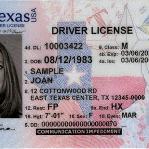 Buy Texas Driving License